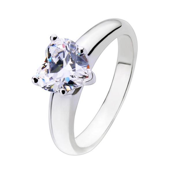 Herz Sona Diamant 925 Sterling Silber Verlobung Hochzeit Ring
