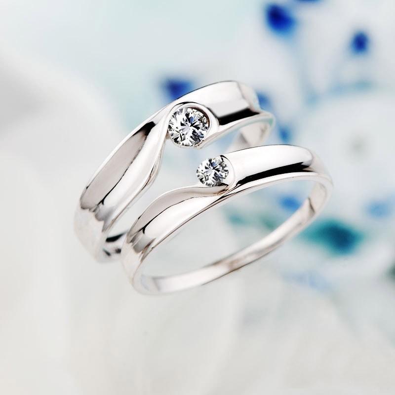 Partnerringe geteiltes herz  Neue Süße Geteiltes Herz 925 Sterling Silber Liebespaar Ringe ...